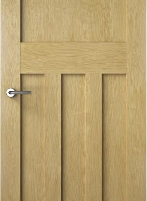 1930s Solid Oak Door Flat Internal (FLAT) v1_01